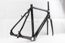 new full carbon cyclocross frame with V brakes, DI2 and mechanical derailleur compatible cyclocross bike frame