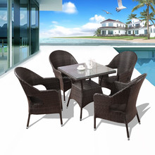 rattan coffee table and chair set outdoor garden furniture