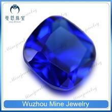 alibaba china wholesale cushion cut fake gems 34# blue sapphire