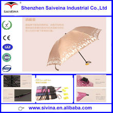 Best selling hot new products in alibaba china shining grace ladies UV protection folding umbrella