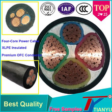 Manufacture Power Cable 4 Core (3+1) Core XLPE Insulated Copper Stranded Wire