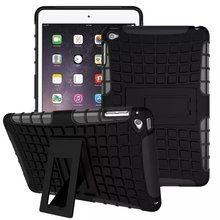 High Quality Shockproof Hard Rubber Heavy Duty Armor Hybrid Kickstand Case for iPad mini 4