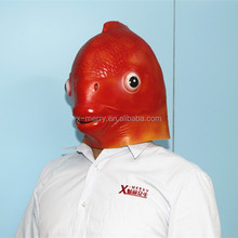 X-MERRY FISH FANCY COSTUME Red HAT MASK KIDS CAP PARTY HALLOWEEN DRESS UP
