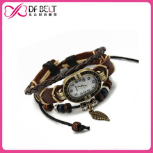 2015 alibaba girl cord bracelet watch with retro dial