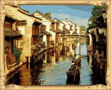 GX7421 paint by numbers kits chinese oil painting for wall art