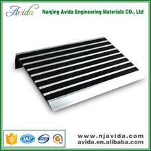 Anti-slip aluminium stair nosing for laminate floor