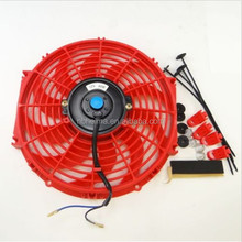 "12"" inch Universal Slim Fan Push Pull Electric Radiator Cooling 12V Mount Kit BU"