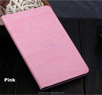 Tablet PC Wood Grain Leather Slim Cover Flip Stand Smart Case for iPad 5 for iPad Air