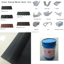 Construction roofing materials--metal roofing shingle/waterproof membrane/rain drainage