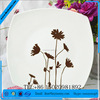 """6"""" Good Quality Square Porcelain Plates White Color For Hotel, Restaurant, Wedding, Party, Catering, Banquet, etc."""