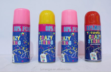 Silly string for Chile and South America market