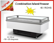 Open top island fridge with 3 years warranty for imported compressor