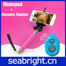 2014 New Product Legoo Bluetooth Selfie Monopod with bluetooth remote shutter