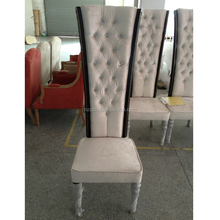 french style antique high back timber dining chairs