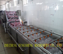 stainless steel washing and air drying machine for food