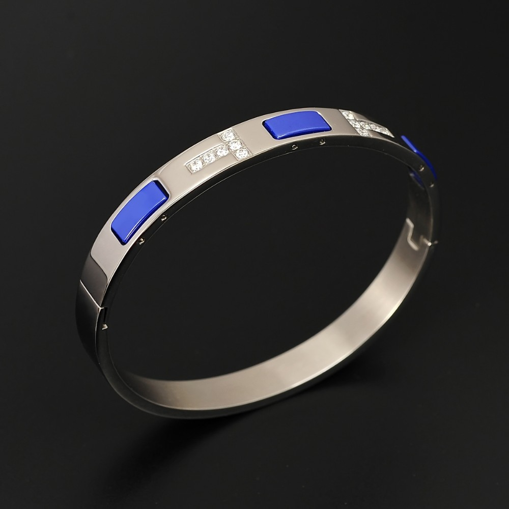 Fashion Color Ceramic Stainless Steel Women Bangle Unisex