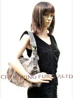 CX-H-48B Women Real Fox Fur Bag