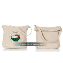 Factory price shopping tote beach bag 100% cotton canvas rope handle beach bag