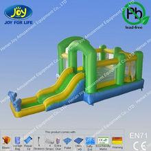 mini verde largo tobogán 6*4m inflatables, 2013 casa de brinco inflables gorilas