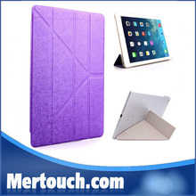 Hot Selling Magnetic Smart Cover For New iPad 2 3 4 Stand Holder tpu leather + transparent back cover case for ipad 2 3 4