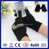 conductive yarns touch screen glove ,black smart glove,all kinds of colorful gloves.