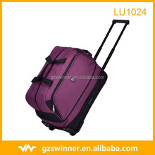 High-end purple color travel Trolley bag portable large capacity luggage waterproof polyester travel bag