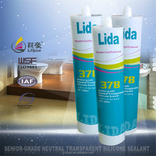 water-proof, anti-fungus transparent/clear silicone sealant