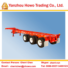 container chassis 3 axle skeletal semi trailer on sale
