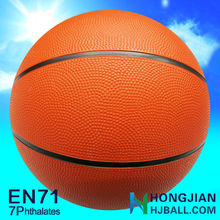 2015 orange color hot sell rubber basketball promotional 5