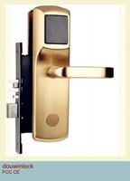 Electronic magnetic sliding door key lock