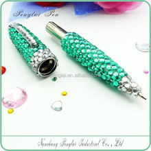 metal crystal body pen diamond jewelled crystal pen oem writing pen with crystal