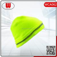Men Women's beanie knit ski caps hip-hop lime green winter warm unisex hats