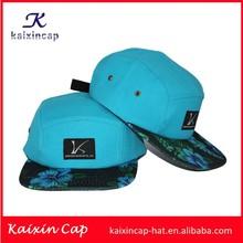 Llano chaacter 5 panel cap camper sombrero hip hop diseñe su propio