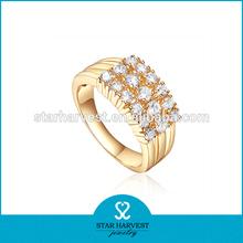 Anillos de plata esterlina 925 moda dorada