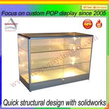 High quality glass rack cake acrylic display stand with light