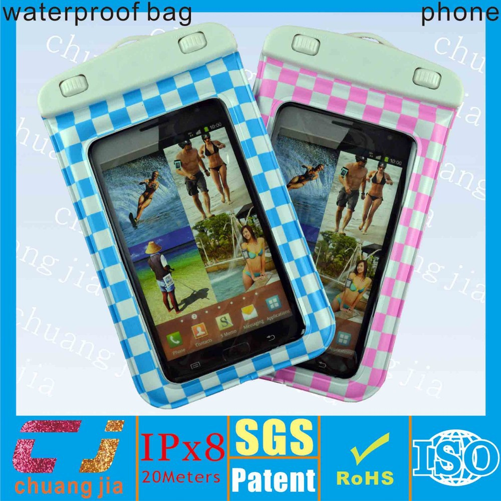 waterproof phone bag for samsung s3 phone waterproof pouch with IPX8