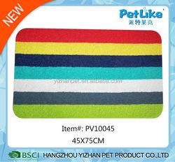 Printed PVC pet mat mix color pet dog and cat feeding mat