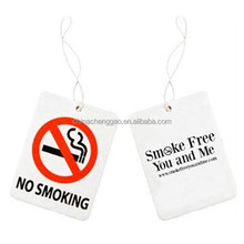 Customized NO Smoking New Car Scented Paper Freshener For Car