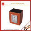 Promotional decorative leather wooden pen box case storage box
