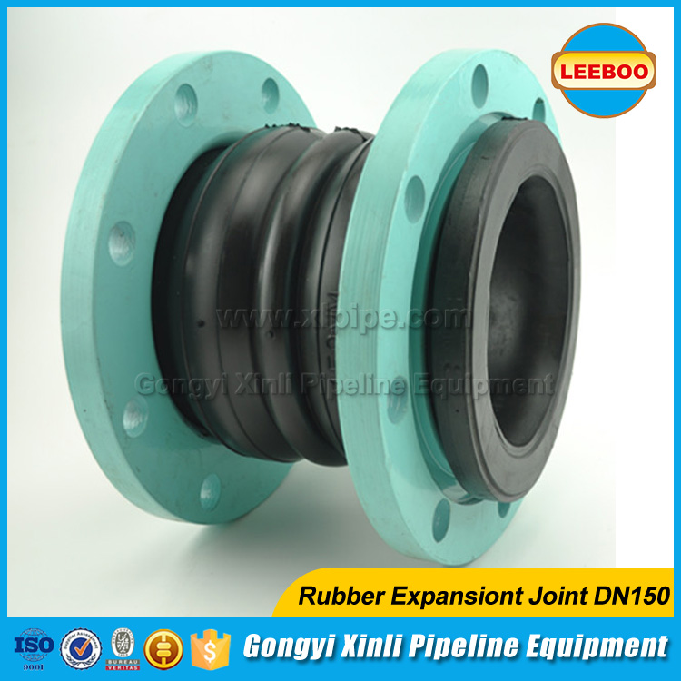 Pump fittings dual ball flange rubber expansion joint