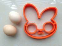 FRED AND FRIENDS BUNNYSIDE UP EGG MOLD Kitchen Gift Cooking Tool Silicone Rabbit Pancake Ring Kid,Children Easter Egg Mould