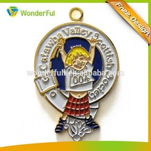 Holiday Gifts Colorful Funny Cartoon Style Beautiful Metal Medal For Children