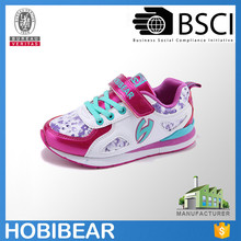 HOBIBEAR athletic running shoes girl sport shoes