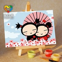 2015 new item easy diy canvas painting kids paint my numbers