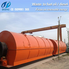 high quality Waste Tyre recycle machine to diesel oil and wire steel scrapes