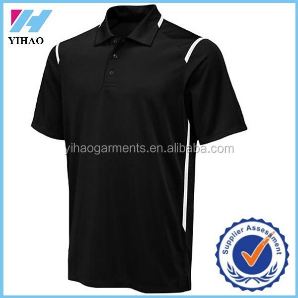 Dongguan yihao wholesale short sleeve 100 polyester polo for Bulk golf shirts wholesale