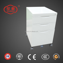 Filing Cabinet Stainless Steel White Colour 3 Drawers Tool Storage Movable Newwork Cabinet
