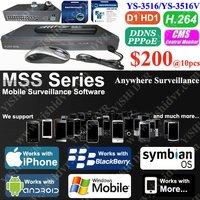 BlackBerry Andriod NOKIA 8ch H.264 Network Pentaplex Standalone DVR, CMS D1 3G PDA Mobile DVR