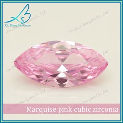 Fancy cutting 2.5*5mm Marquise cut synthetic cz semi precious stone