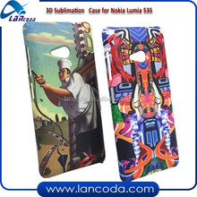 polymer 3D sublimation phone cases for Nokia 535,sublimation cover,sublimation mobile case